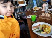 Lake Lucerne outdoor eating.
